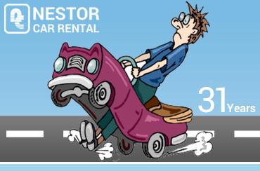 paphos car rentals mascot nestor blue
