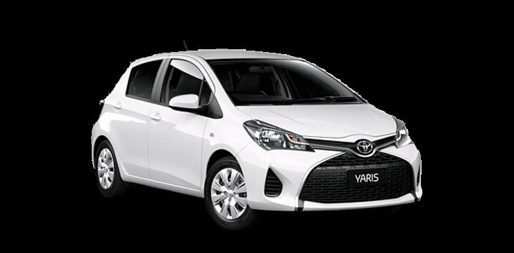 paphos car rentals toyota yaris white